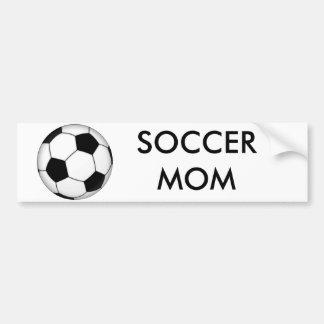 600px-Soccer_ball_svg, SOCCER MOM Bumper Sticker