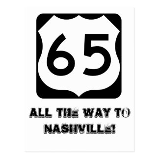 600px-US_65.svg, All the way to Nashville! Postcard