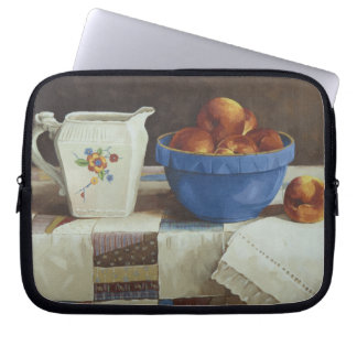 6044 Bowl of Peaches & Pitcher on Quild Laptop Bag Computer Sleeve