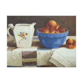 6044 Bowl of Peaches Pitcher Quilt Wrapped Canvas