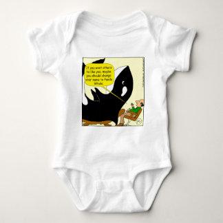605 killer whale or panda cartoon baby bodysuit