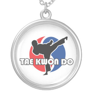 606-5 Tae Kwon Do Silver Necklace