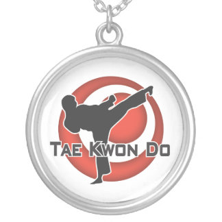 606-6 Tae Kwon Do Silver Necklace