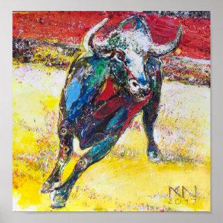 60.96x60.96cm, Paper poster (chechmate) Bull