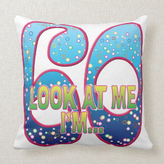 60 Age Rave Look Throw Pillow