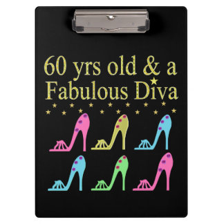 60 AND FABULOUS SHOE QUEEN CLIPBOARDS