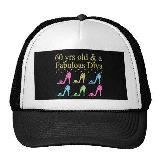 60 AND FABULOUS SHOE QUEEN TRUCKER HAT