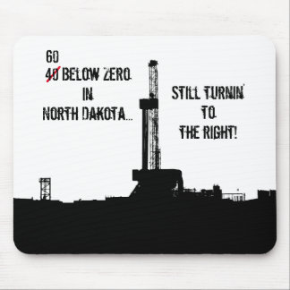 60 Below Zero Oilfield Drilling Rig Mouse Pad