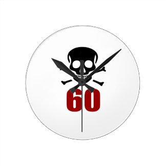 60 Birthday Designs Round Clock
