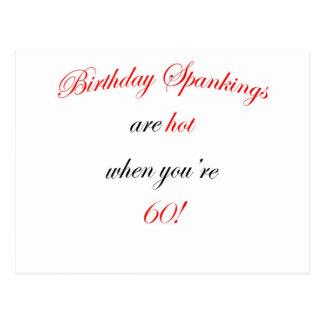 60  Birthday spankings are hot! Postcard