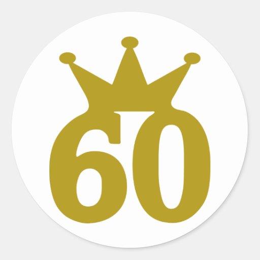 60-crown round stickers