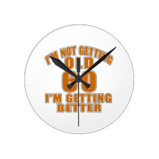 60 I Am Getting Better Clock