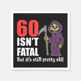 60 Isn't Fatal But It's Still Old Grim Reaper Napkin