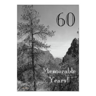 60 Memorable Years/Birthday Celebration-Nature Card