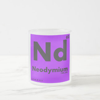 60 Neodymium | Periodic Table of Elements Frosted Glass Coffee Mug