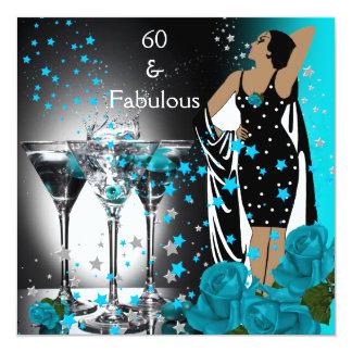 60 roses turquoises fabuleux Martini de Faire-part Personnalisé