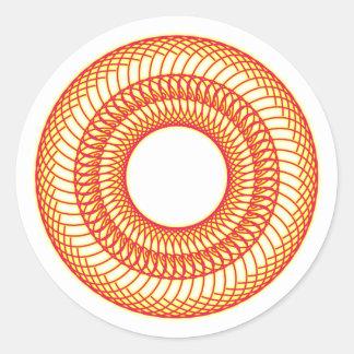 60 rosette round sticker