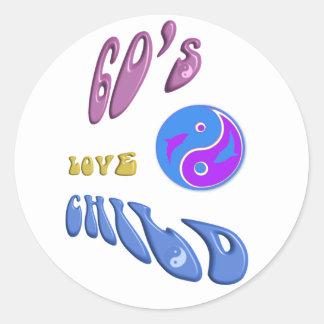 60 s Love Child Stickers