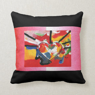 """60""""s Peter Max style Polyester Throw Pillow"""