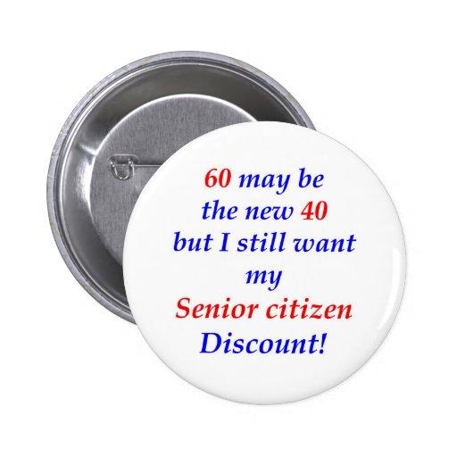 60 Senior Citizen Button