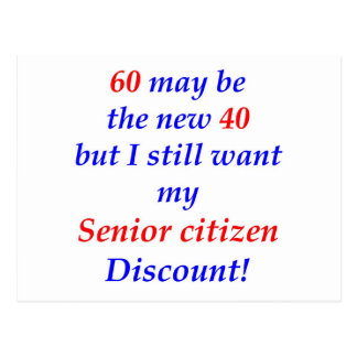 60 Senior Citizen Postcard