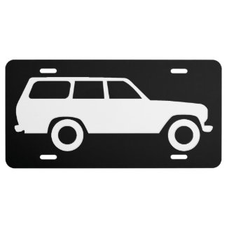 60 Series Toyota Land Cruiser License Plate - Blk