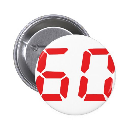 60 sixty red alarm clock digital number pin
