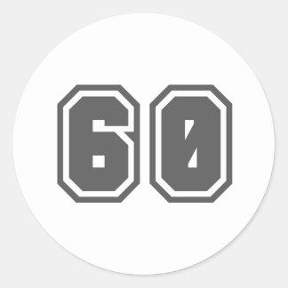 60 ROUND STICKERS