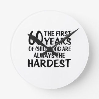 60 The First  Years Birthday Designs Wall Clocks