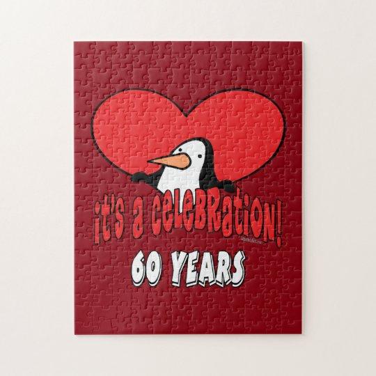 60 Year Celebration Penguin Jigsaw Puzzle