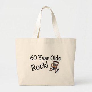 60 Year Olds Rock Rocking Chair Tote Bags