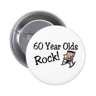60 Year Olds Rock Rocking Chair Pin