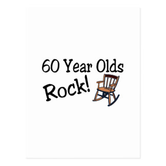 60 Year Olds Rock (Rocking Chair) Postcard