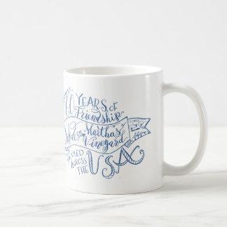 60 years of friendship on the vineyard coffee mug