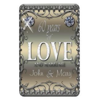 60 Years of Love Rectangular Photo Magnet