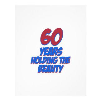 60 years old birthday designs letterhead template