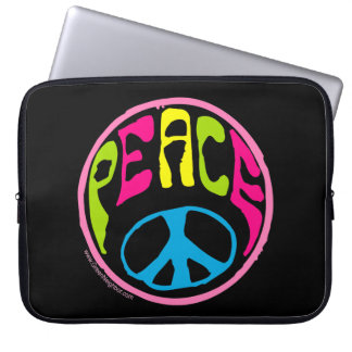 60's, 70's Peace Sign Laptop Sleeve
