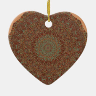 60's Bedspread Ceramic Ornament