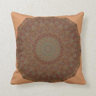 60's Bedspread Mandala Throw Pillow