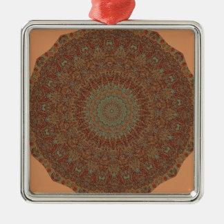 60's Bedspread Metal Ornament
