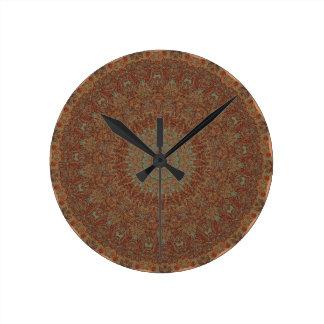 60's Bedspread Round Clock
