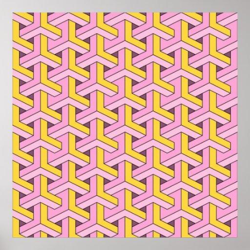 60s design pink poster