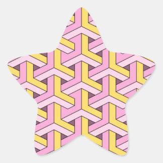 60s design pink sticker