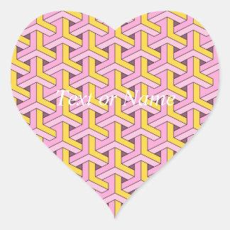 60s design pink heart sticker