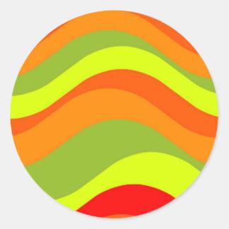 60's Design Round Sticker