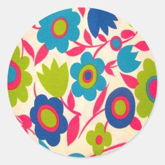 60's Designs Round Stickers