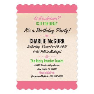 60's Dreaming Birthday Party Invitation