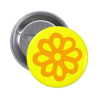 60's flower button