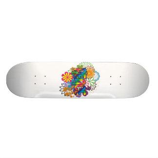 60's Flower Child Peace Skateboard