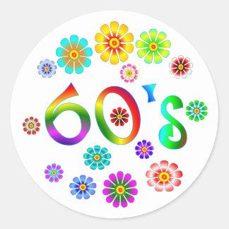 60s Love Round Sticker